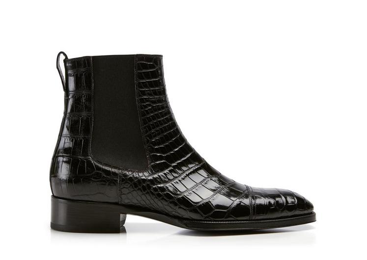 Gianni Alligator Cap Toe Chelsea Boot A fullsize