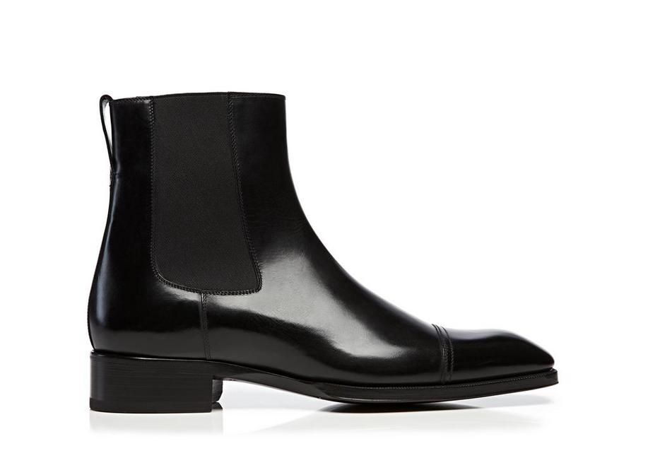 GIANNI LEATHER CAP TOE CHELSEA BOOT A fullsize