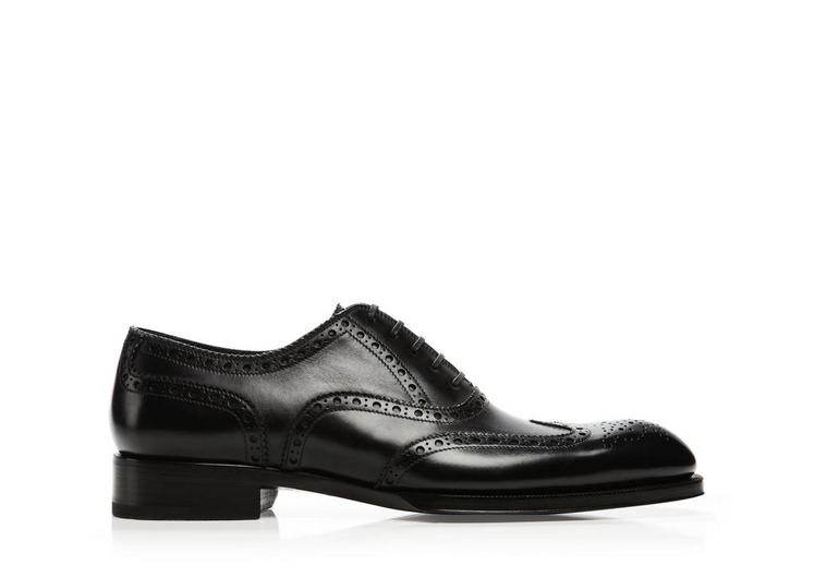 Edward Leather French Brogue Wingtip Lace-Up A fullsize