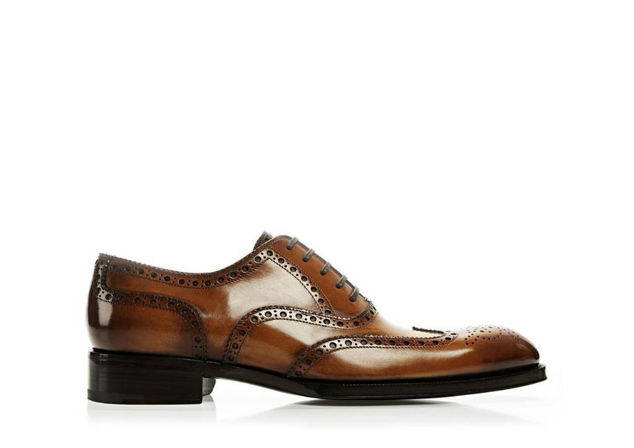 Edward Burnished Leather French Brogue Wingtip Lace-Up A fullsize