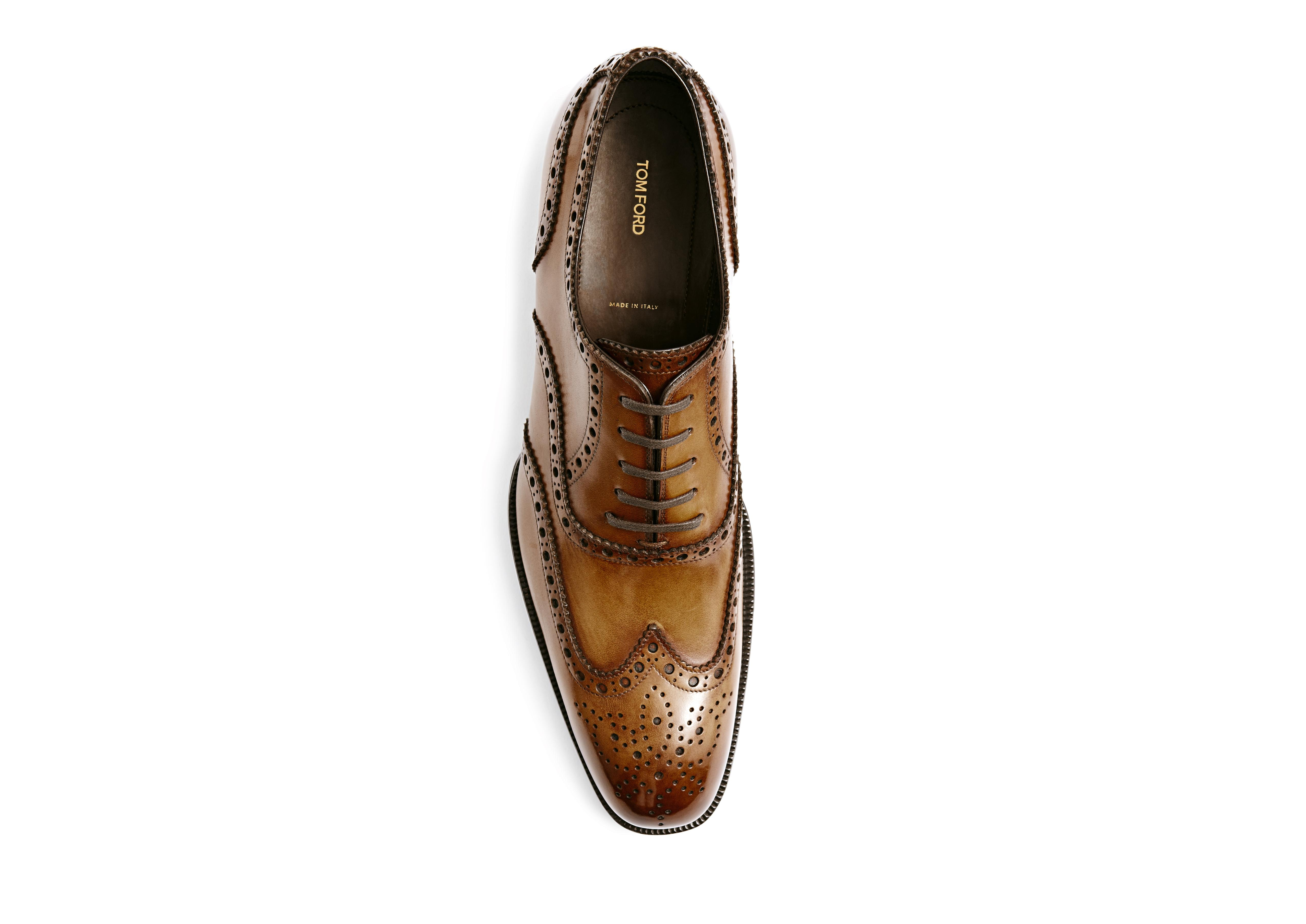 Edward Burnished Leather French Brogue Wingtip Lace-Up B thumbnail