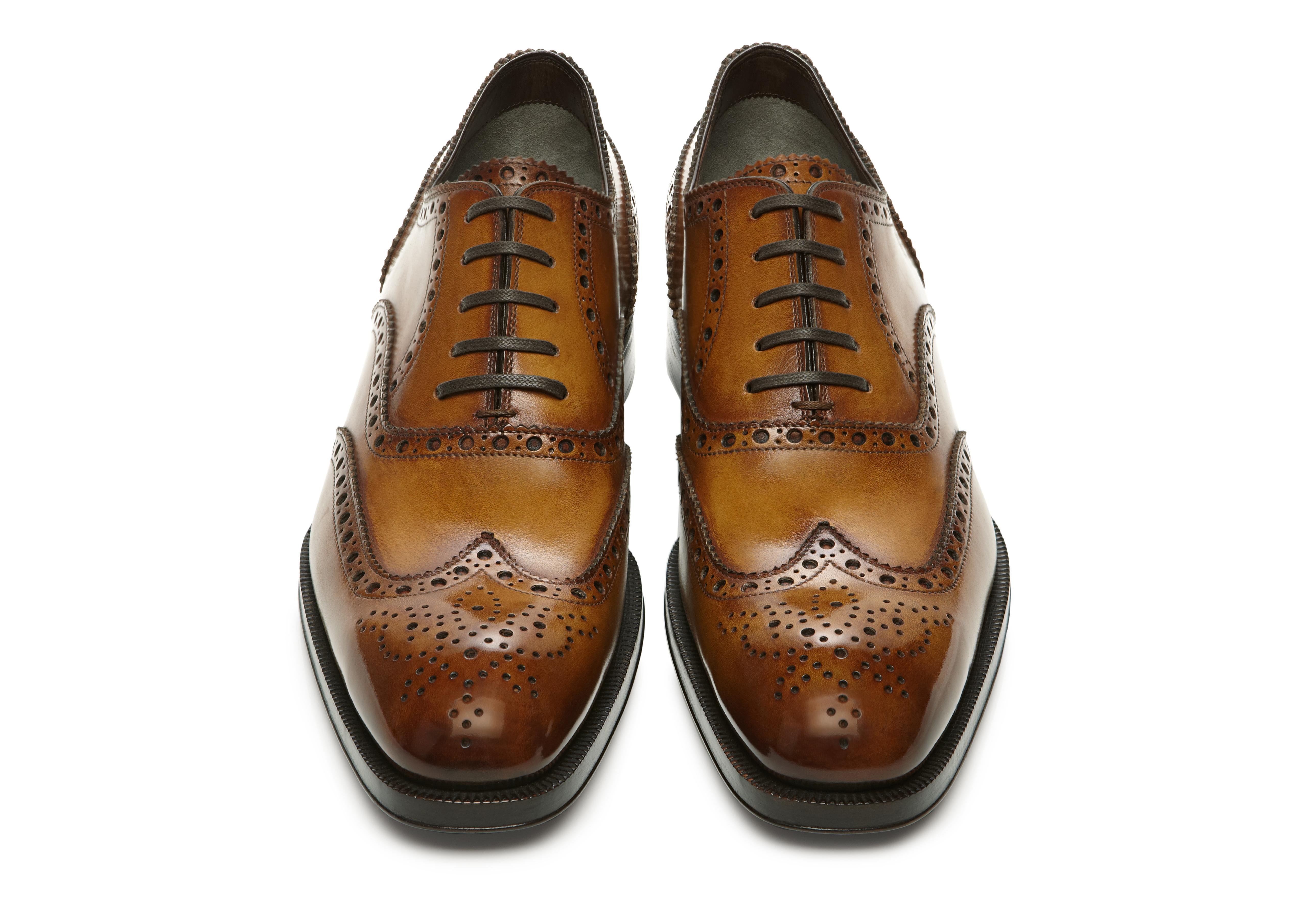 Edward Burnished Leather French Brogue Wingtip Lace-Up C thumbnail