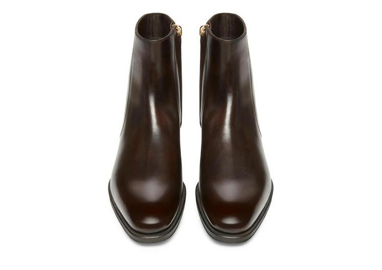 Edward Burnished Leather Zip Chelsea Boot D fullsize