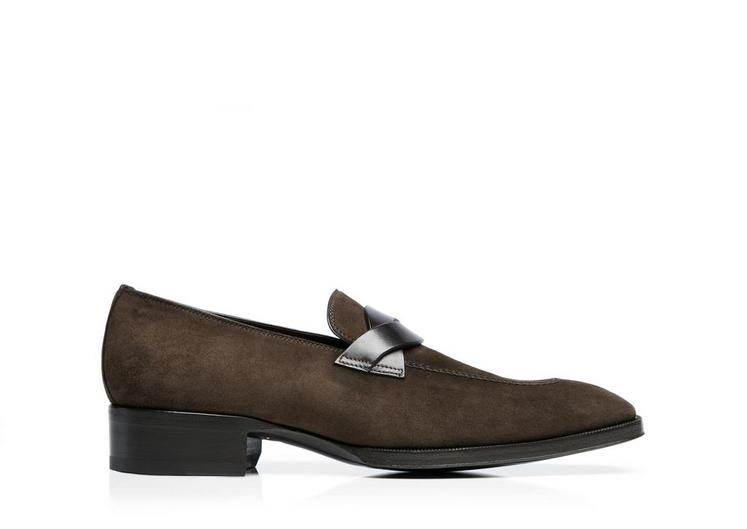 Gianni Suede Loafer With Braided Band A fullsize