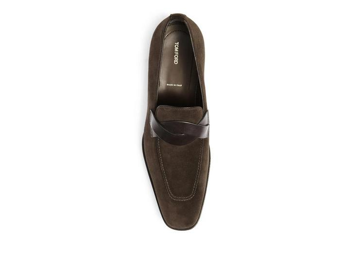 Gianni Suede Loafer With Braided Band B fullsize