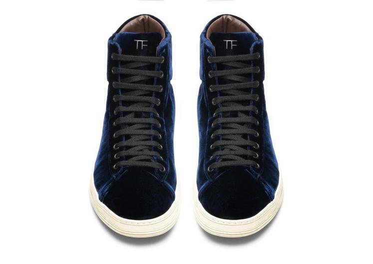 Russel Velvet High Top Sneaker B fullsize