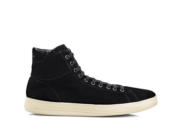 Russel Velvet High Top Sneaker A fullsize
