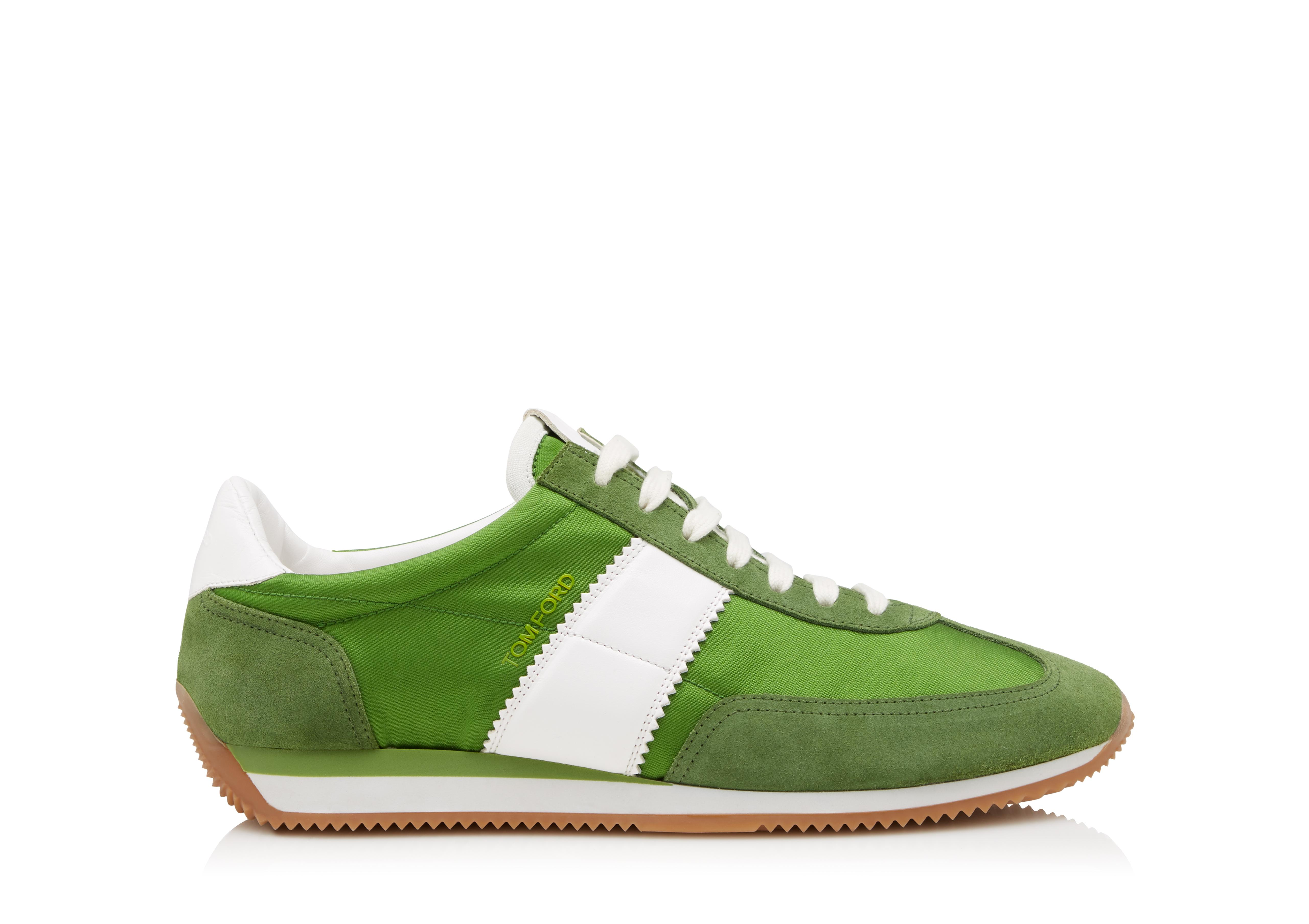 Orford Leather-trimmed Suede Sneakers - BeigeTom Ford N5whiYSJvT
