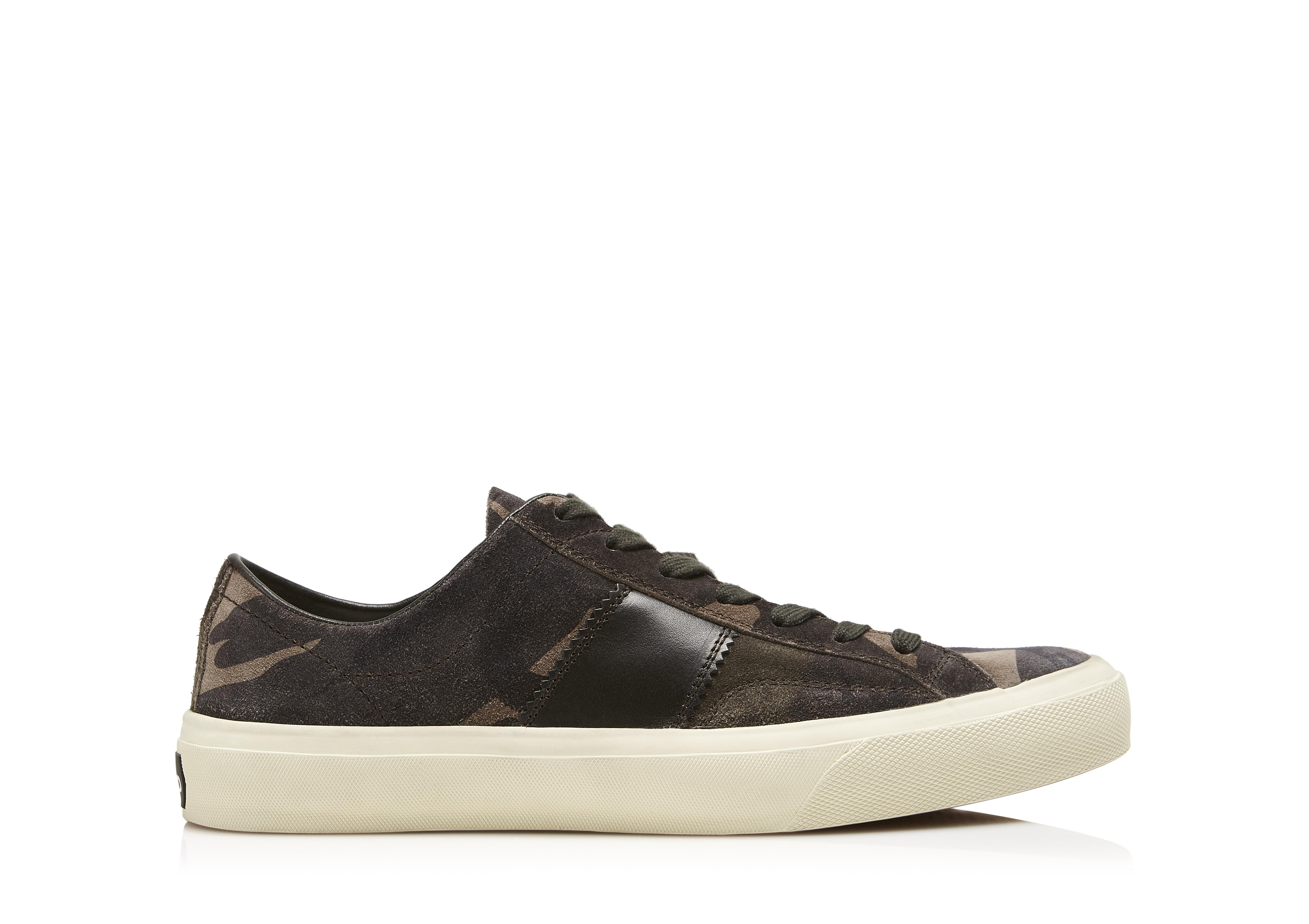 CAMOUFLAGE CAMBRIDGE LACE UP SNEAKERS A thumbnail
