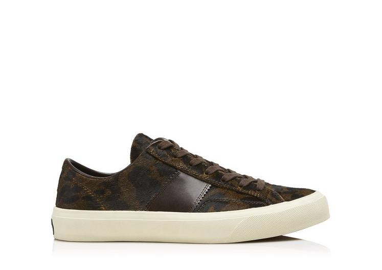 PRINTED PONY CAMBRIDGE LACE UP SNEAKERS A fullsize