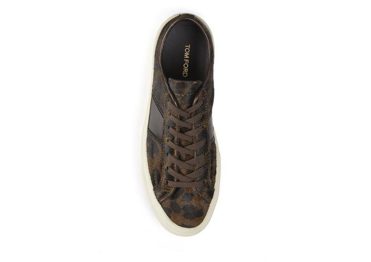 PRINTED PONY CAMBRIDGE LACE UP SNEAKERS B fullsize