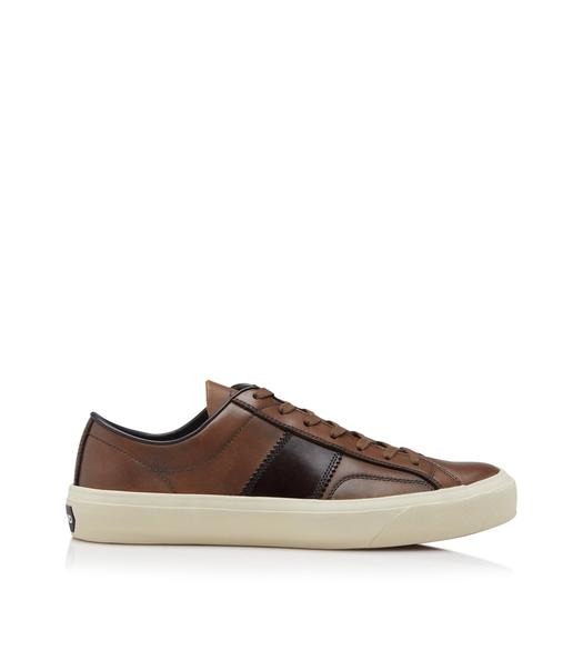 BURNISHED LEATHER CAMBRIDGE SNEAKERS