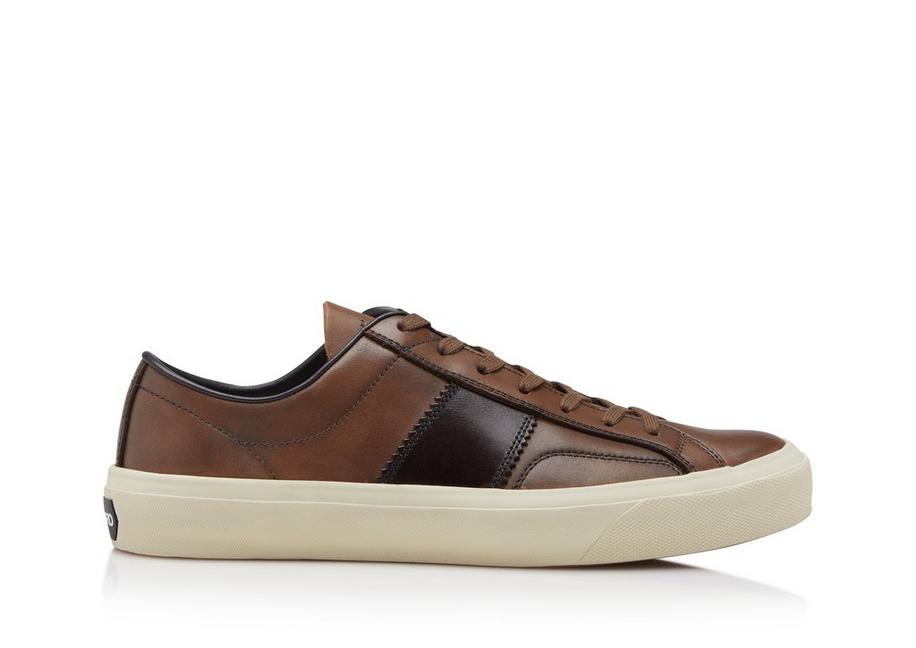 BURNISHED LEATHER CAMBRIDGE SNEAKERS A fullsize