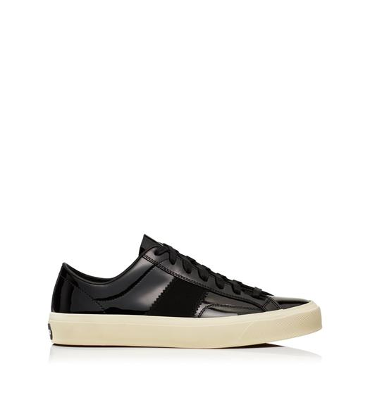 PATENT LEATHER CAMBRIDGE LACE UP SNEAKERS