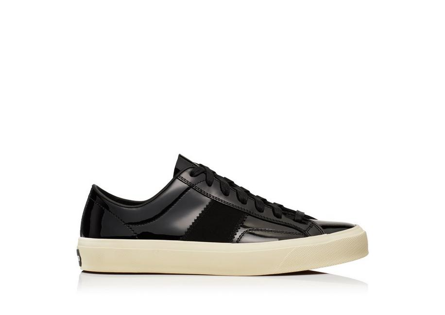 tom ford patent leather cambridge lace up sneakers | tomford