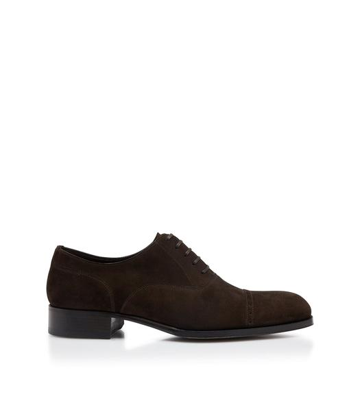 SUEDE EDGAR LEATHER HALF BROGUES