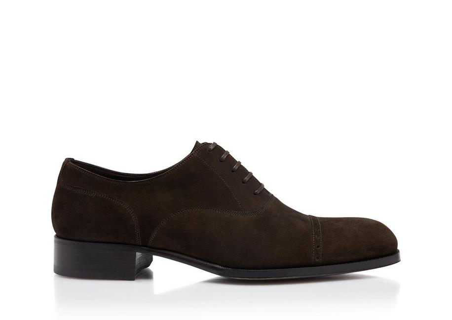 SUEDE EDGAR LEATHER HALF BROGUES A fullsize