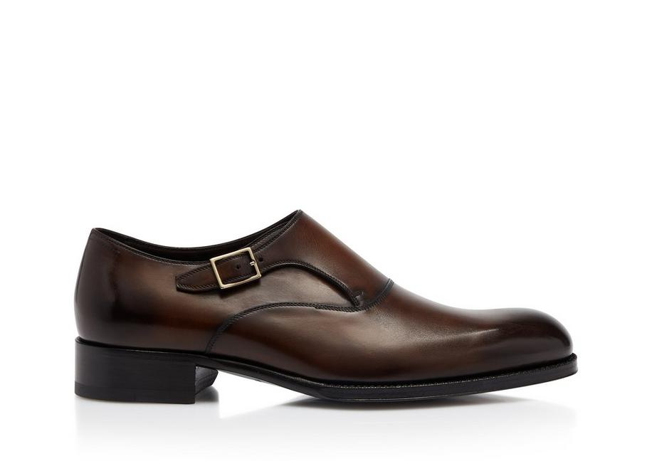 BURNISHED EDGAR SINGLE MONK STRAP A fullsize