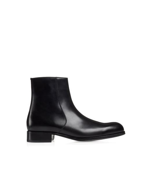 EDGAR LEATHER ZIP BOOT