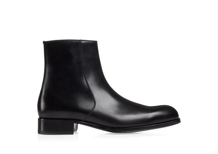 EDGAR LEATHER ZIP BOOT A fullsize