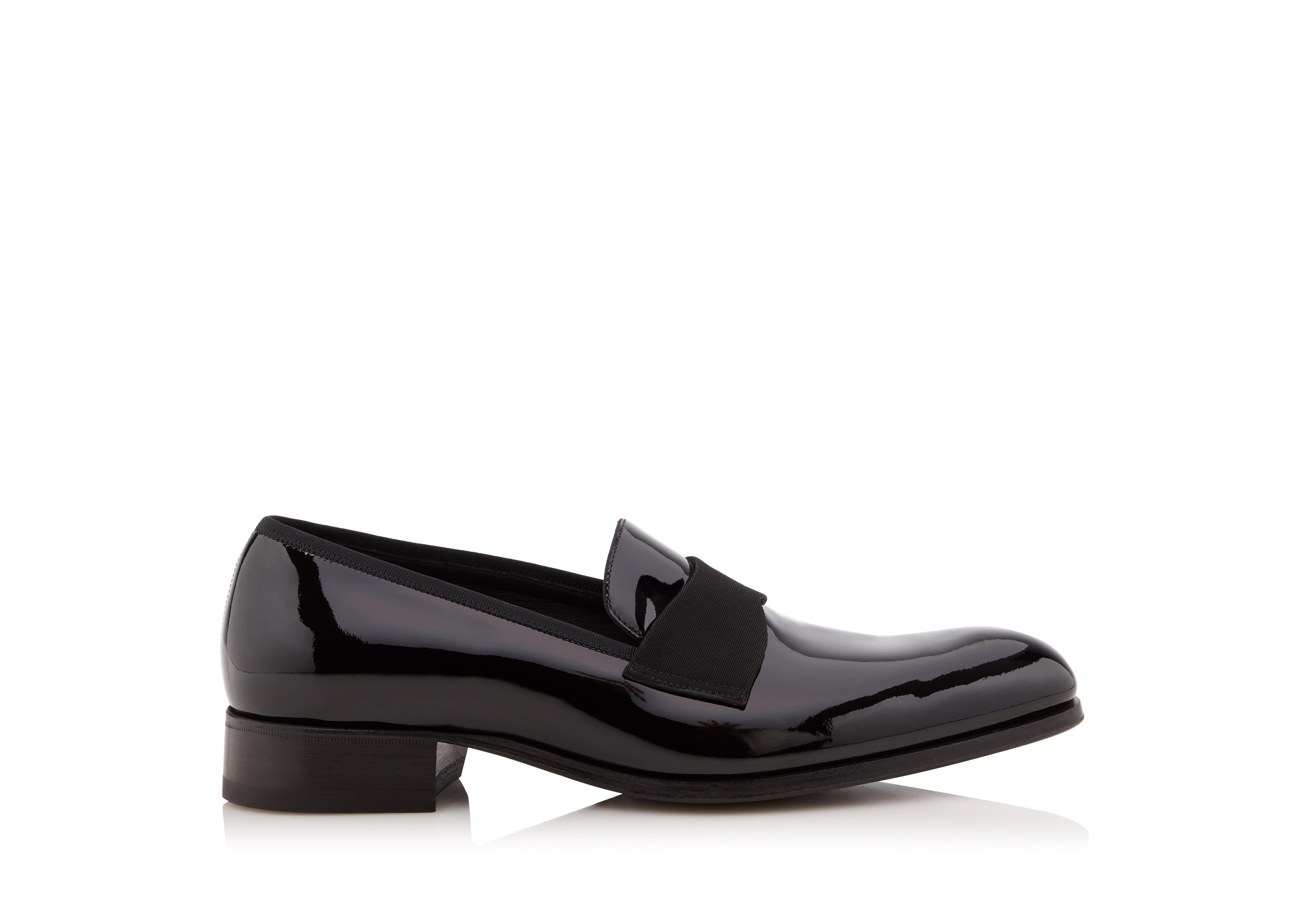 EDGAR PATENT LEATHER EVENING LOAFER A thumbnail