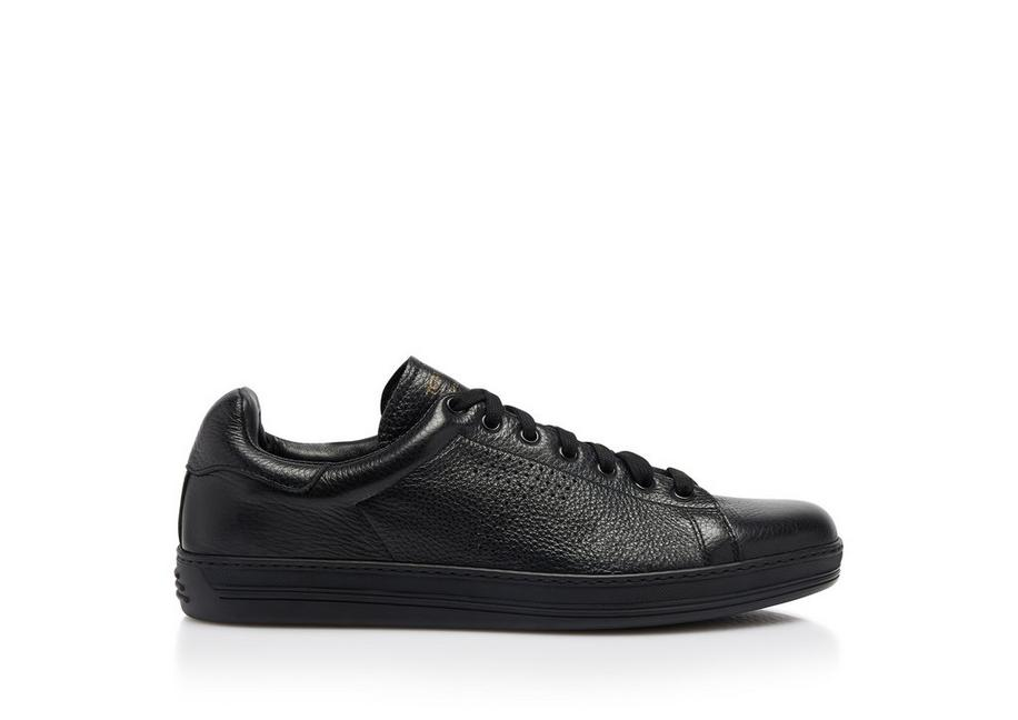 WARWICK GRAINED LEATHER SNEAKER A fullsize