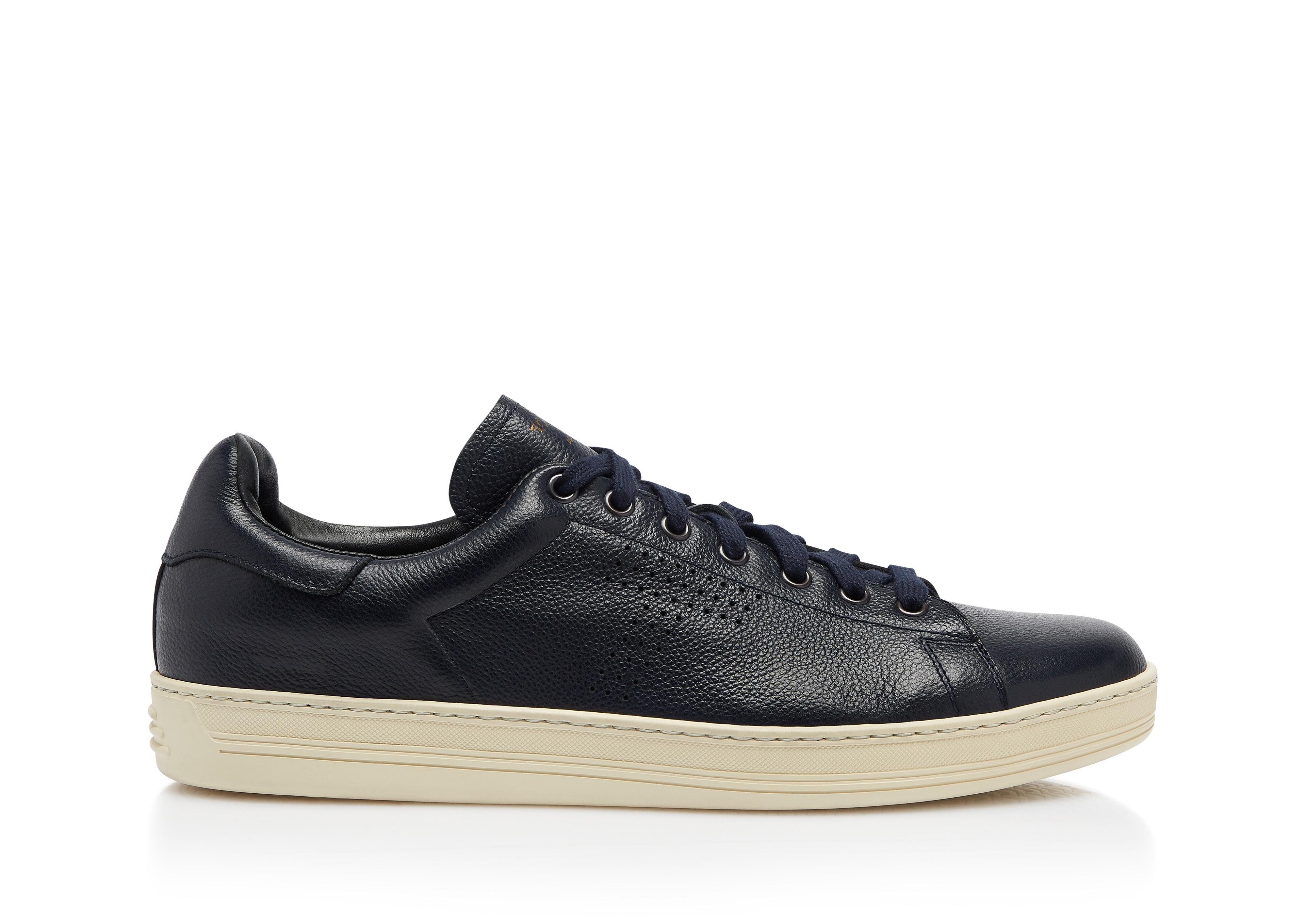 WARWICK GRAINED LEATHER SNEAKER A thumbnail