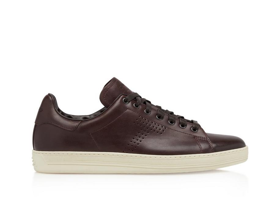 BURNISHED LEATHER WARWICK SNEAKERS A fullsize