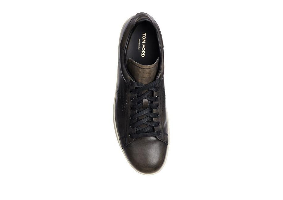 b94f207505f19 Tom Ford WARWICK BURNISHED LEATHER SNEAKERS | TomFord.co.uk