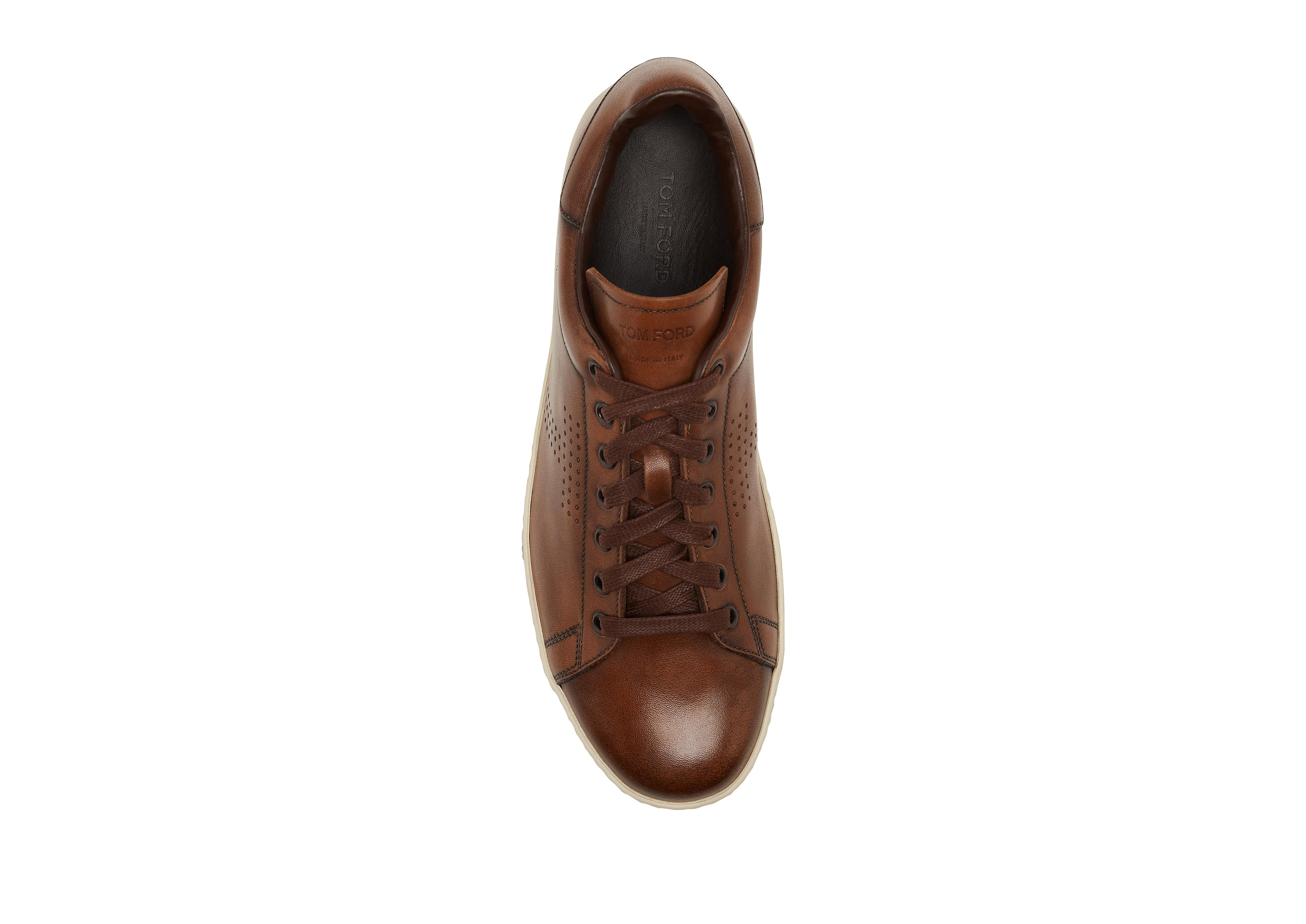 WARWICK BURNISHED LEATHER SNEAKERS B thumbnail