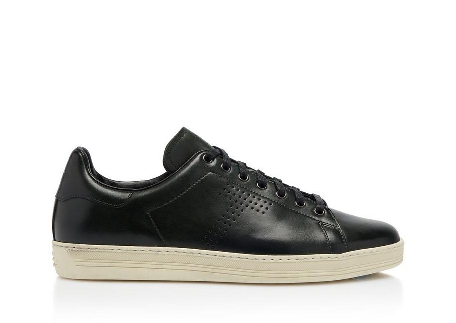 ecf759d4d6965 Tom Ford WARWICK BURNISHED LEATHER SNEAKERS | TomFord.com