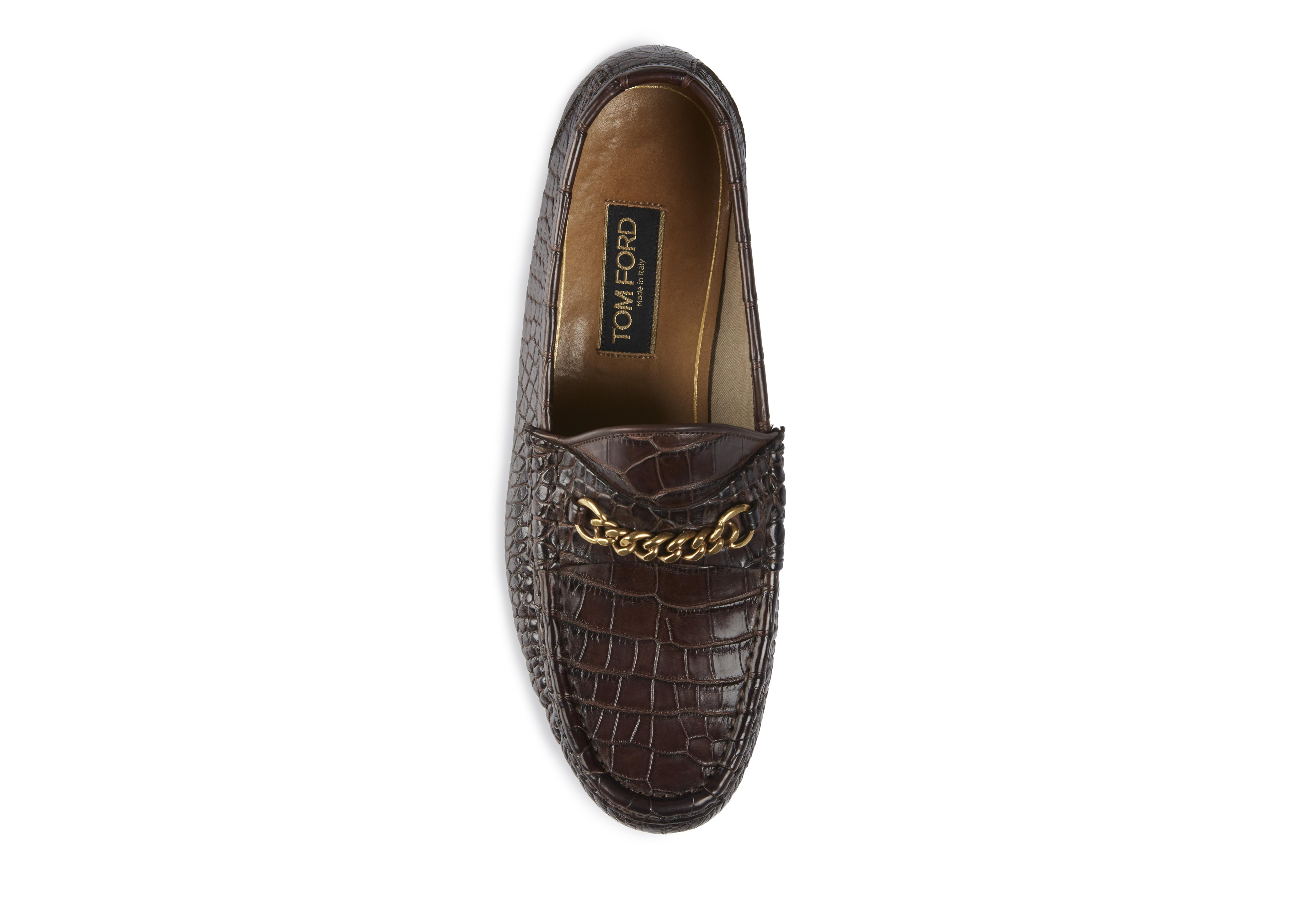 ALLIGATOR YORK CHAIN LOAFERS B thumbnail