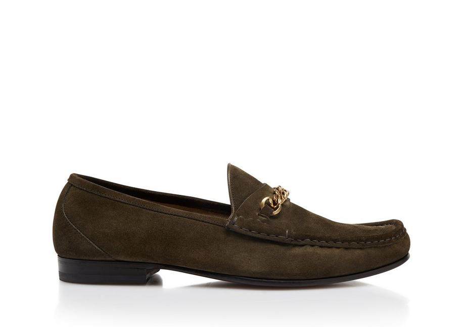 2499f7e30a8 Tom Ford SUEDE YORK CHAIN LOAFERS