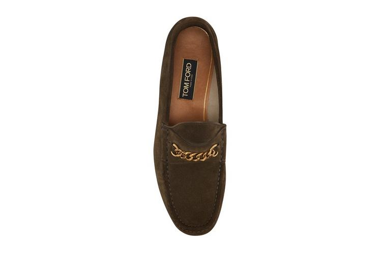 SUEDE YORK CHAIN LOAFERS B fullsize
