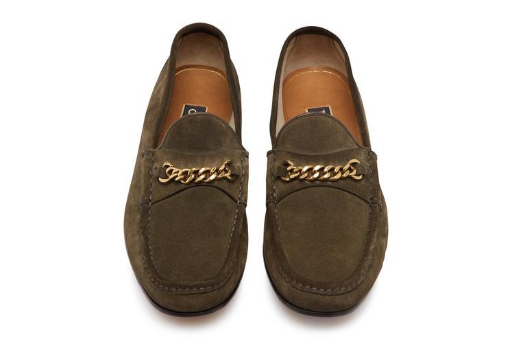 SUEDE YORK CHAIN LOAFERS C fullsize