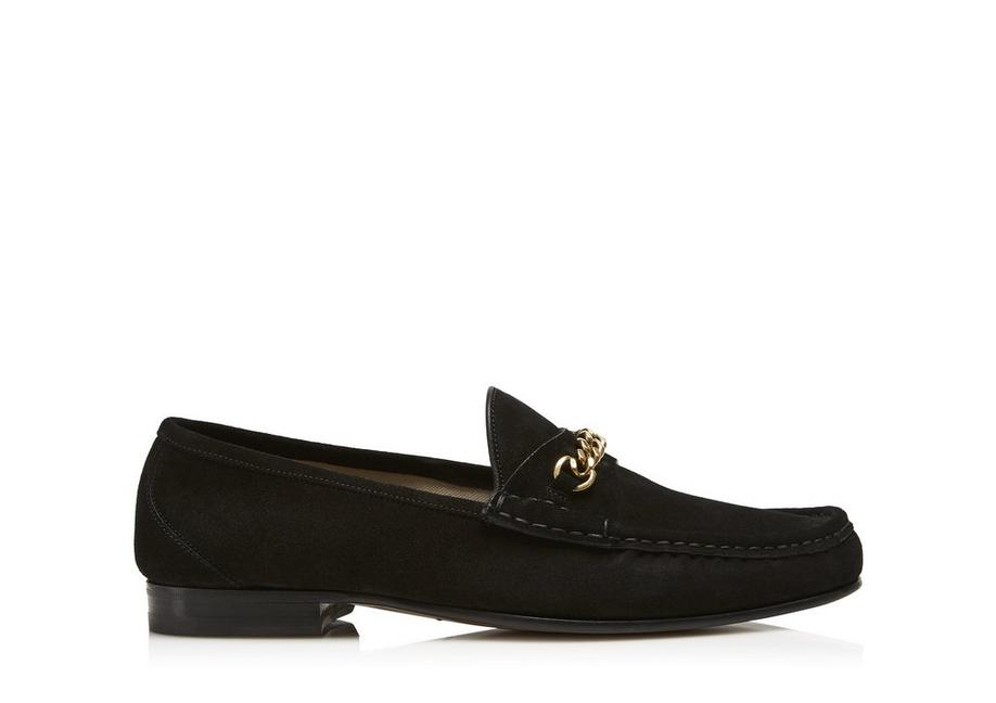 SUEDE YORK CHAIN LOAFERS A fullsize