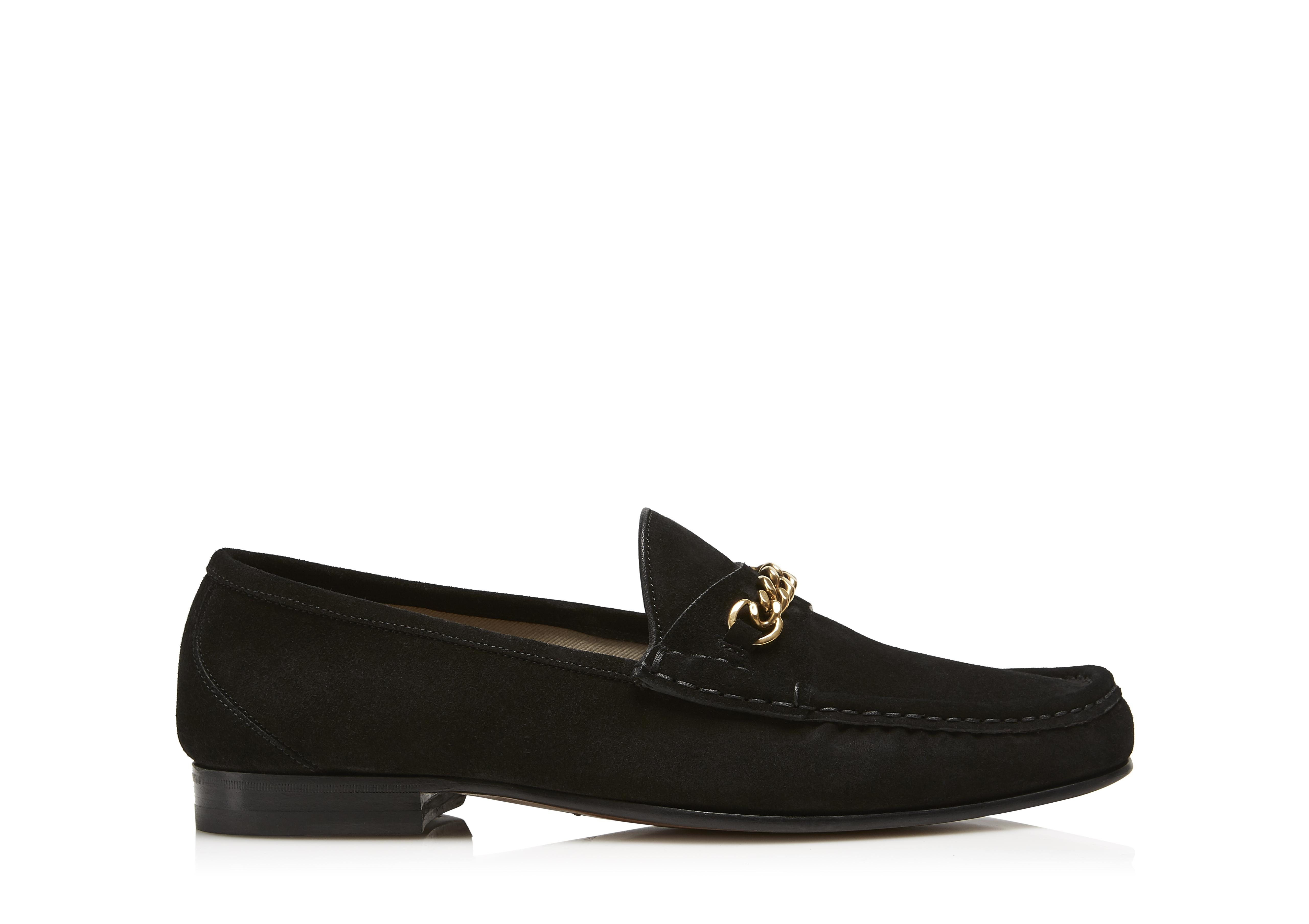 SUEDE YORK CHAIN LOAFERS A thumbnail