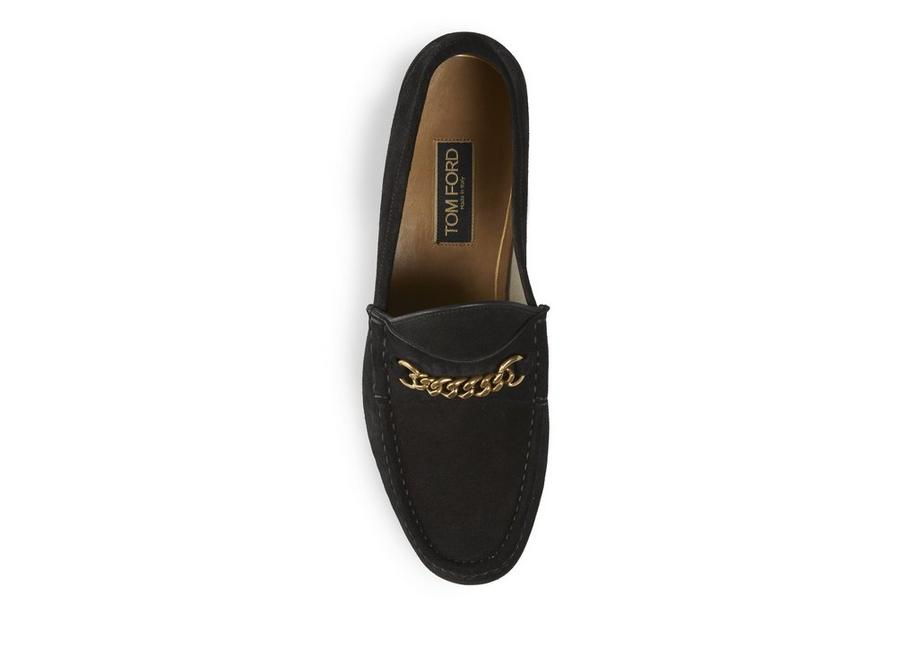 7219c7c67 Tom Ford SUEDE YORK CHAIN LOAFERS | TomFord.com