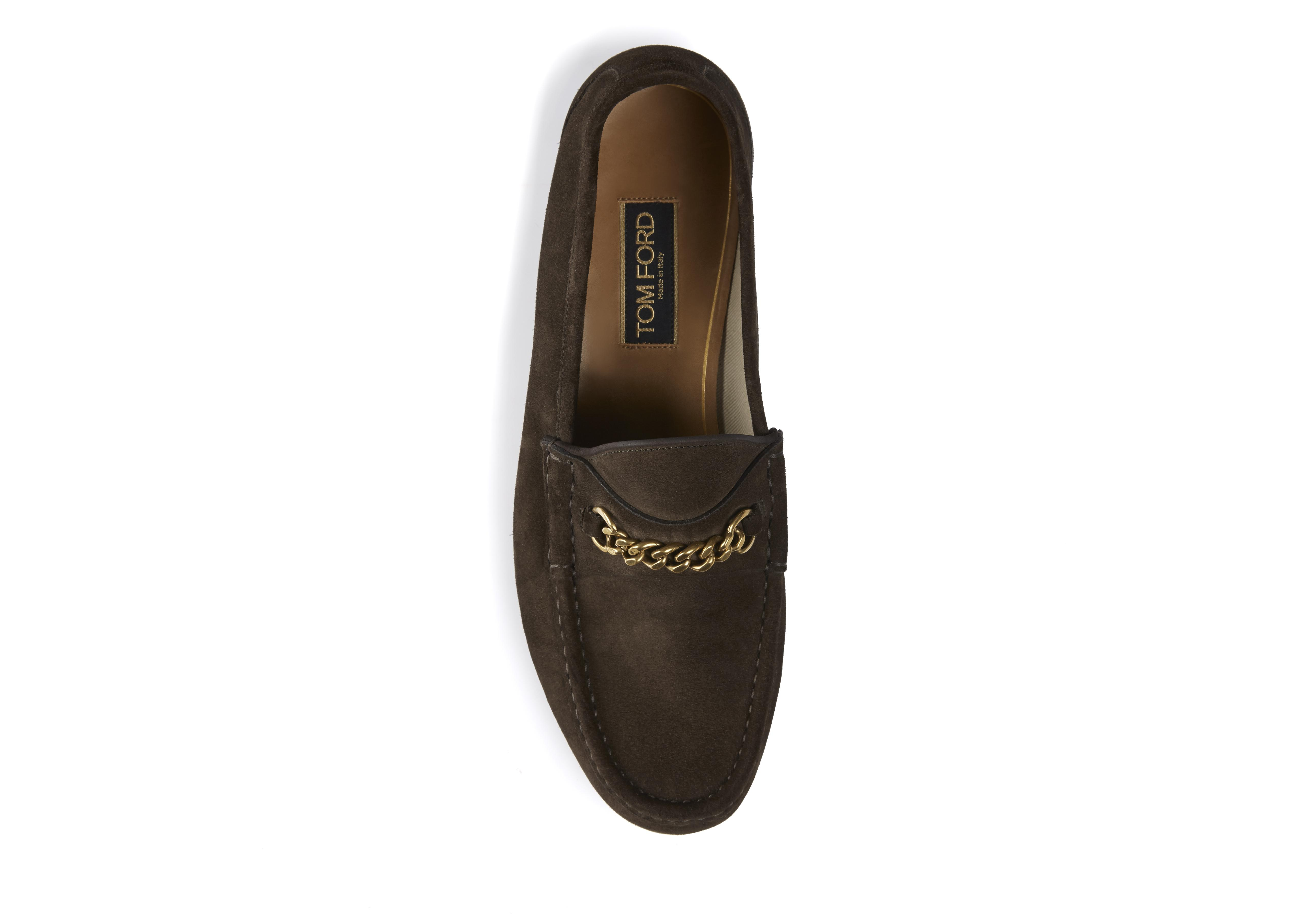 SUEDE YORK CHAIN LOAFERS B thumbnail