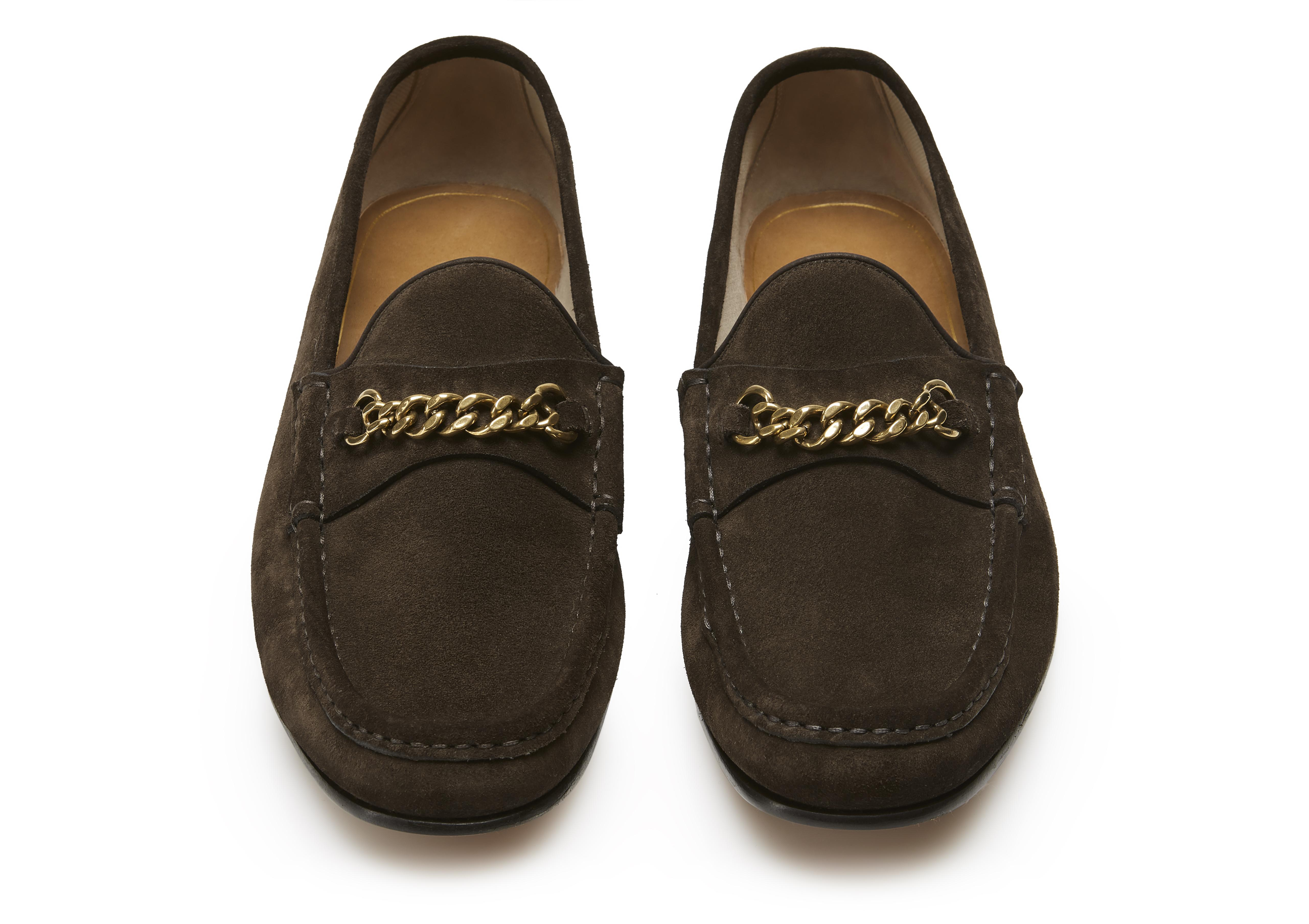 SUEDE YORK CHAIN LOAFERS C thumbnail