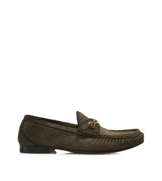 PONY HAIR YORK CHAIN LOAFERS