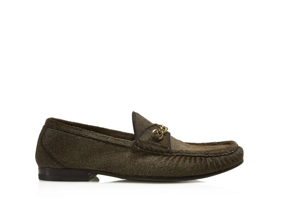 PONY HAIR YORK CHAIN LOAFERS A fullsize