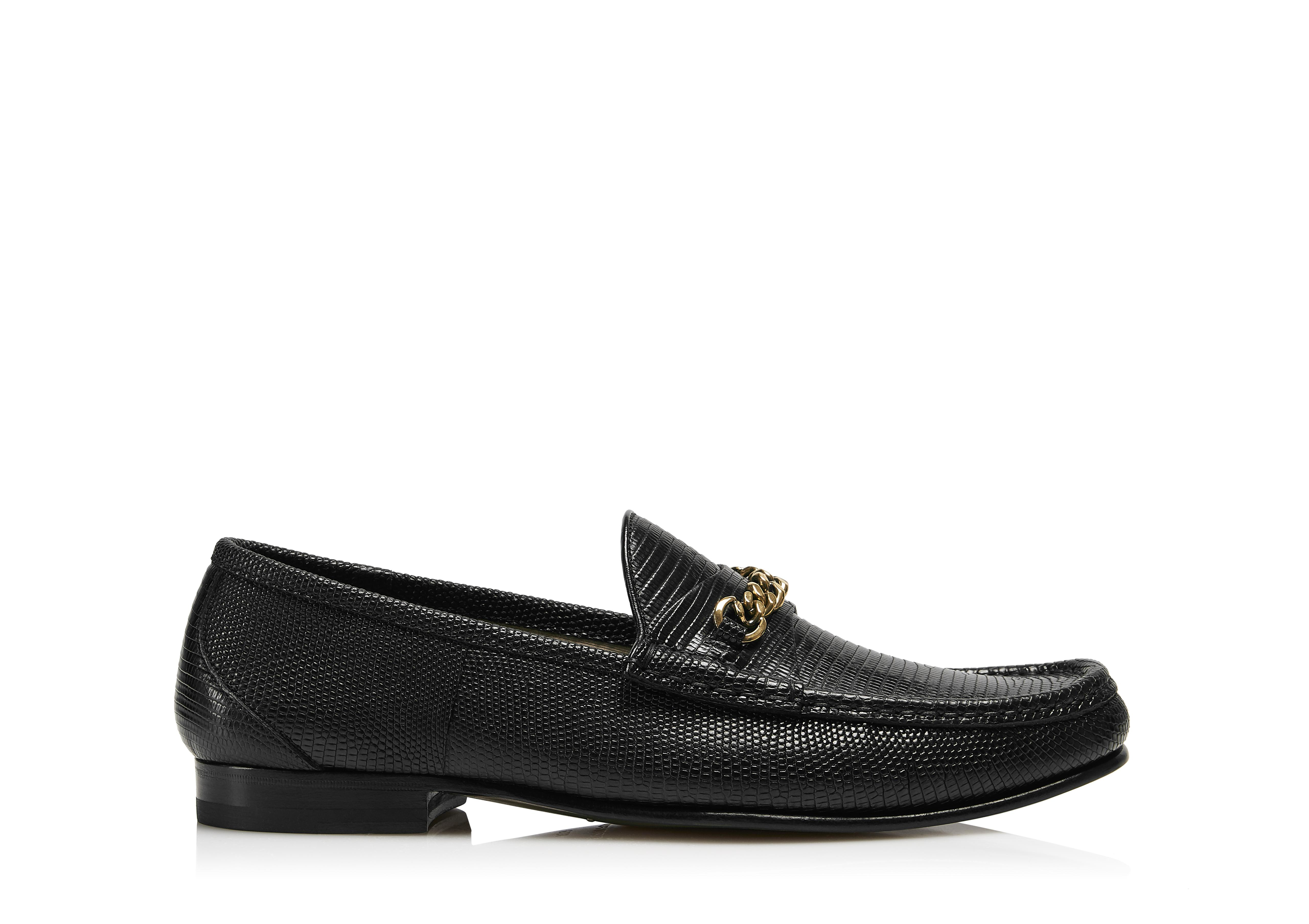 LIZARD YORK CHAIN LOAFERS A thumbnail