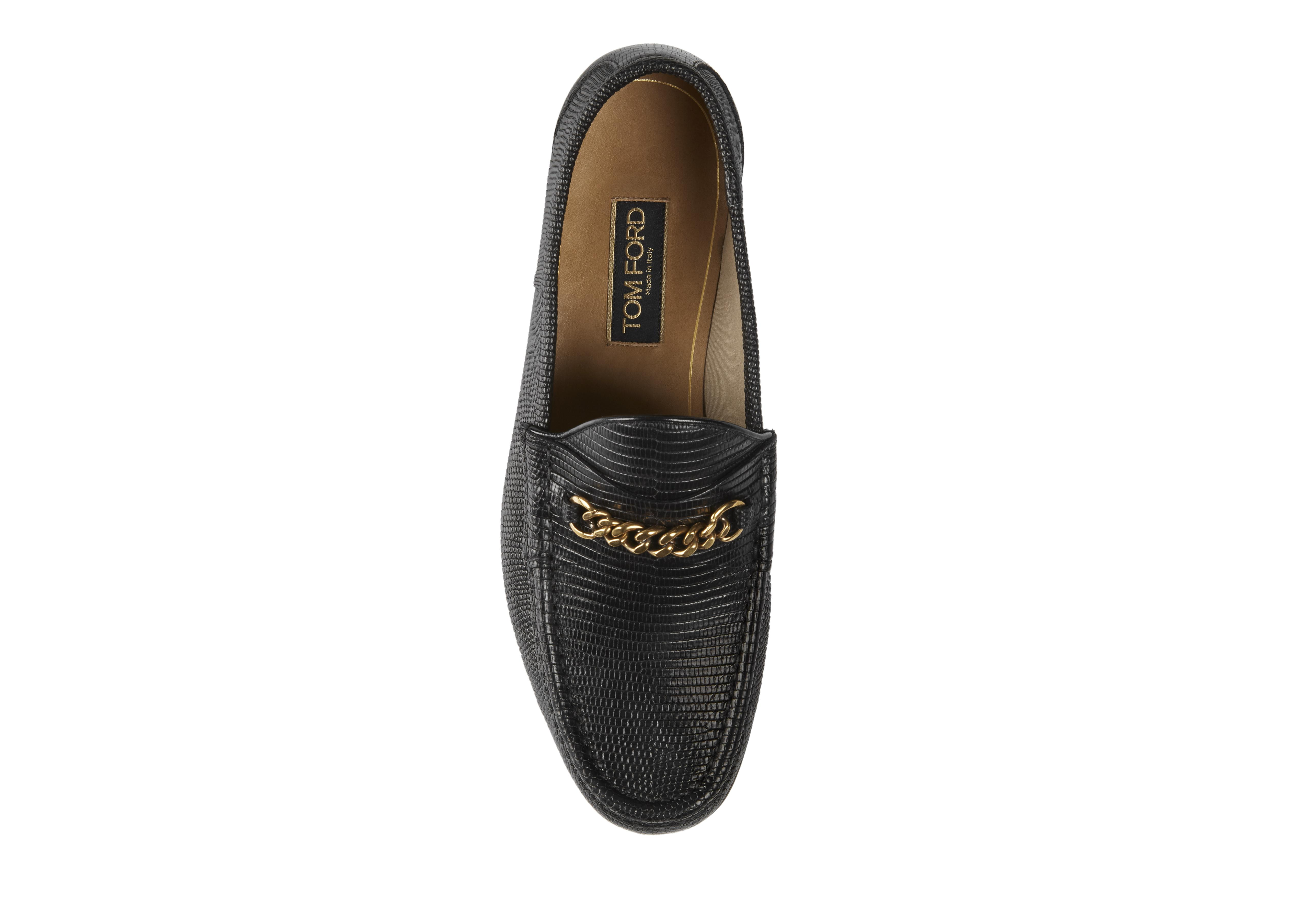 LIZARD YORK CHAIN LOAFERS B thumbnail