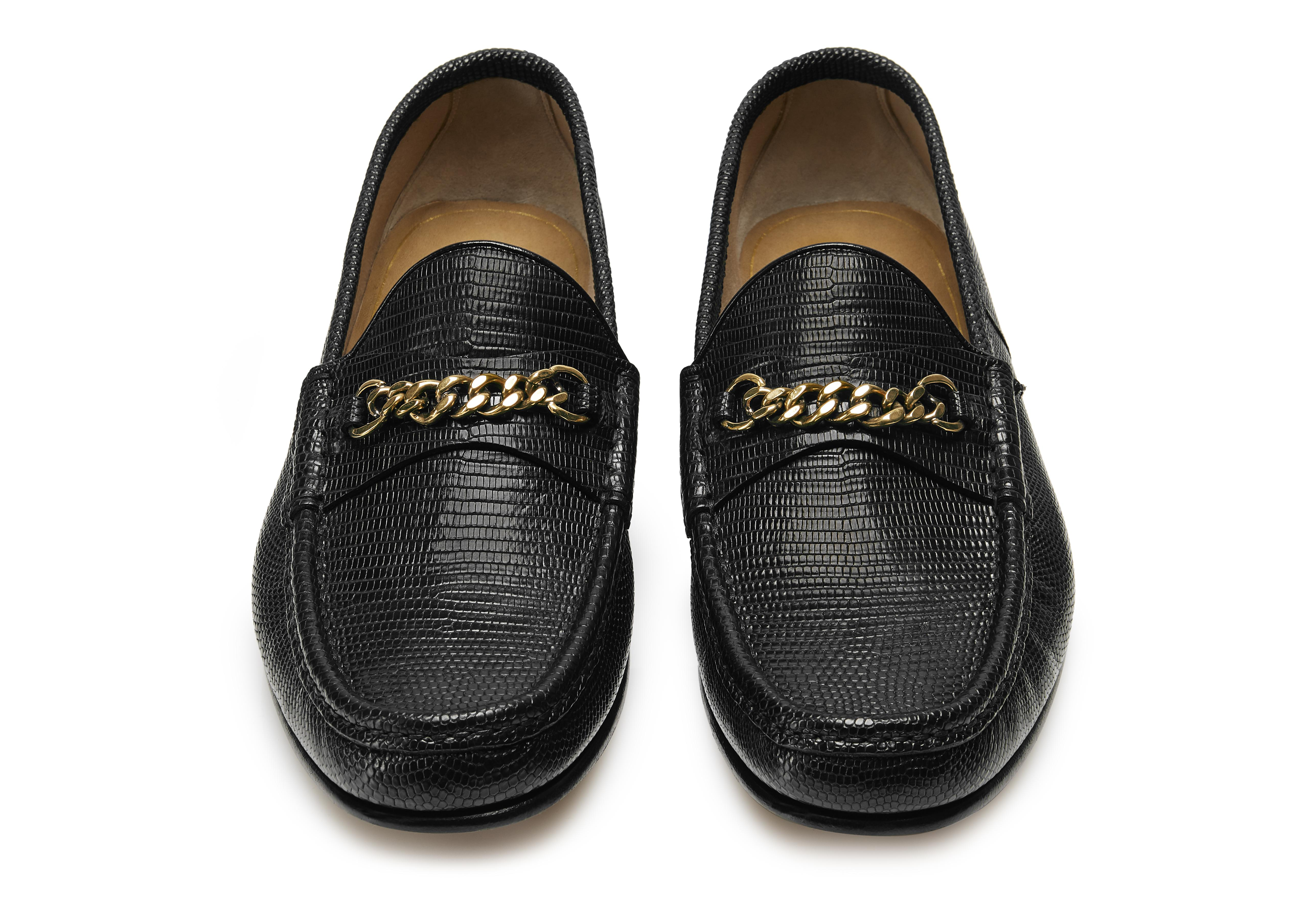 LIZARD YORK CHAIN LOAFERS C thumbnail