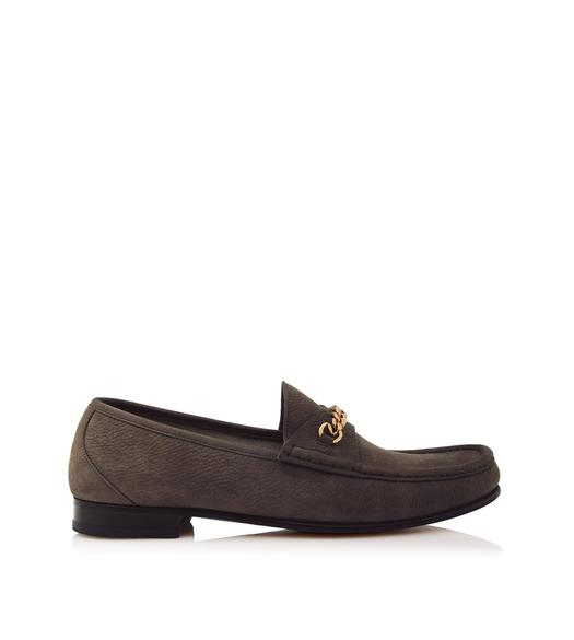 NUBUCK YORK CHAIN LOAFERS
