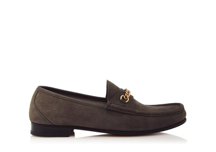 NUBUCK YORK CHAIN LOAFERS A fullsize