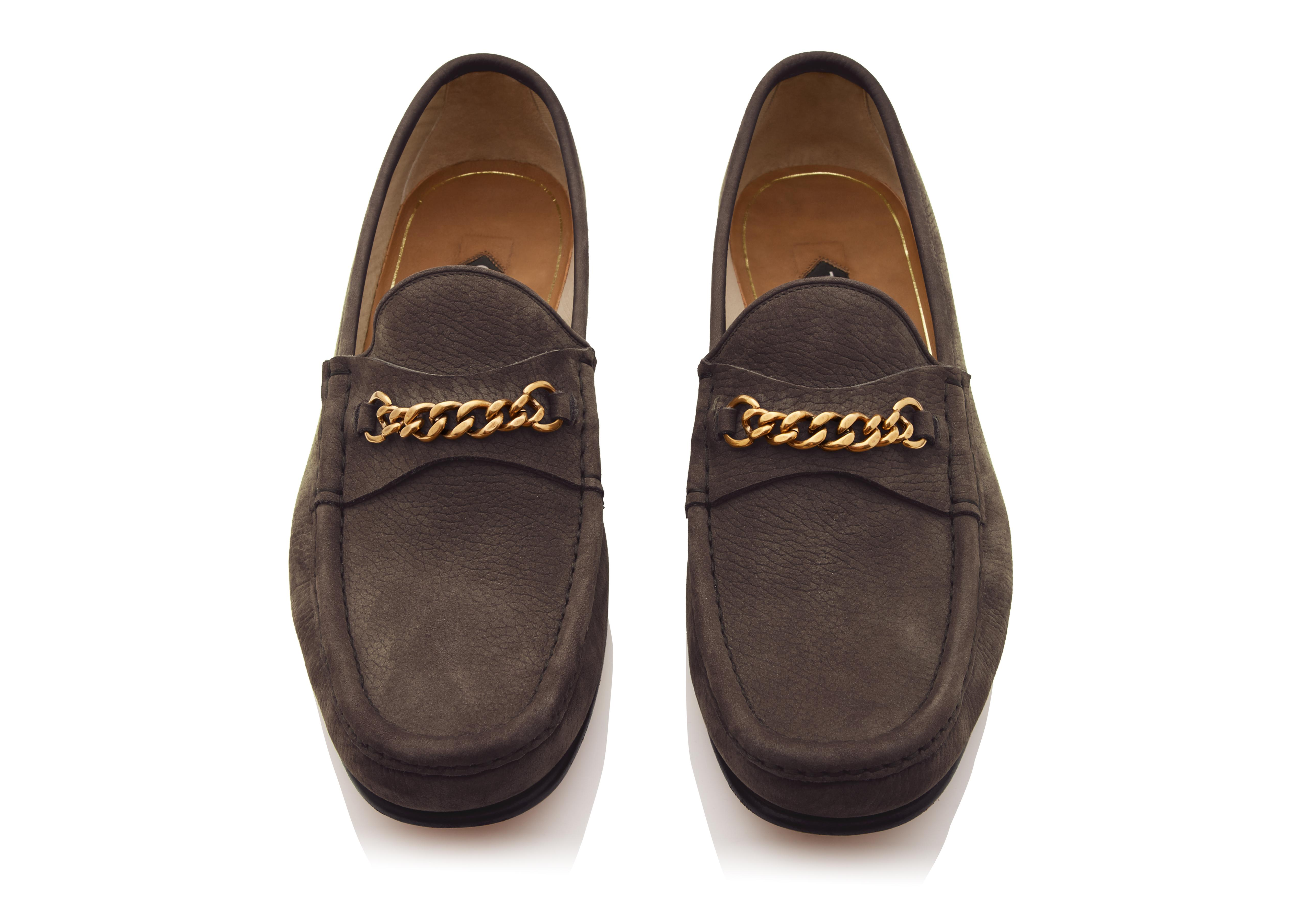NUBUCK YORK CHAIN LOAFERS C thumbnail