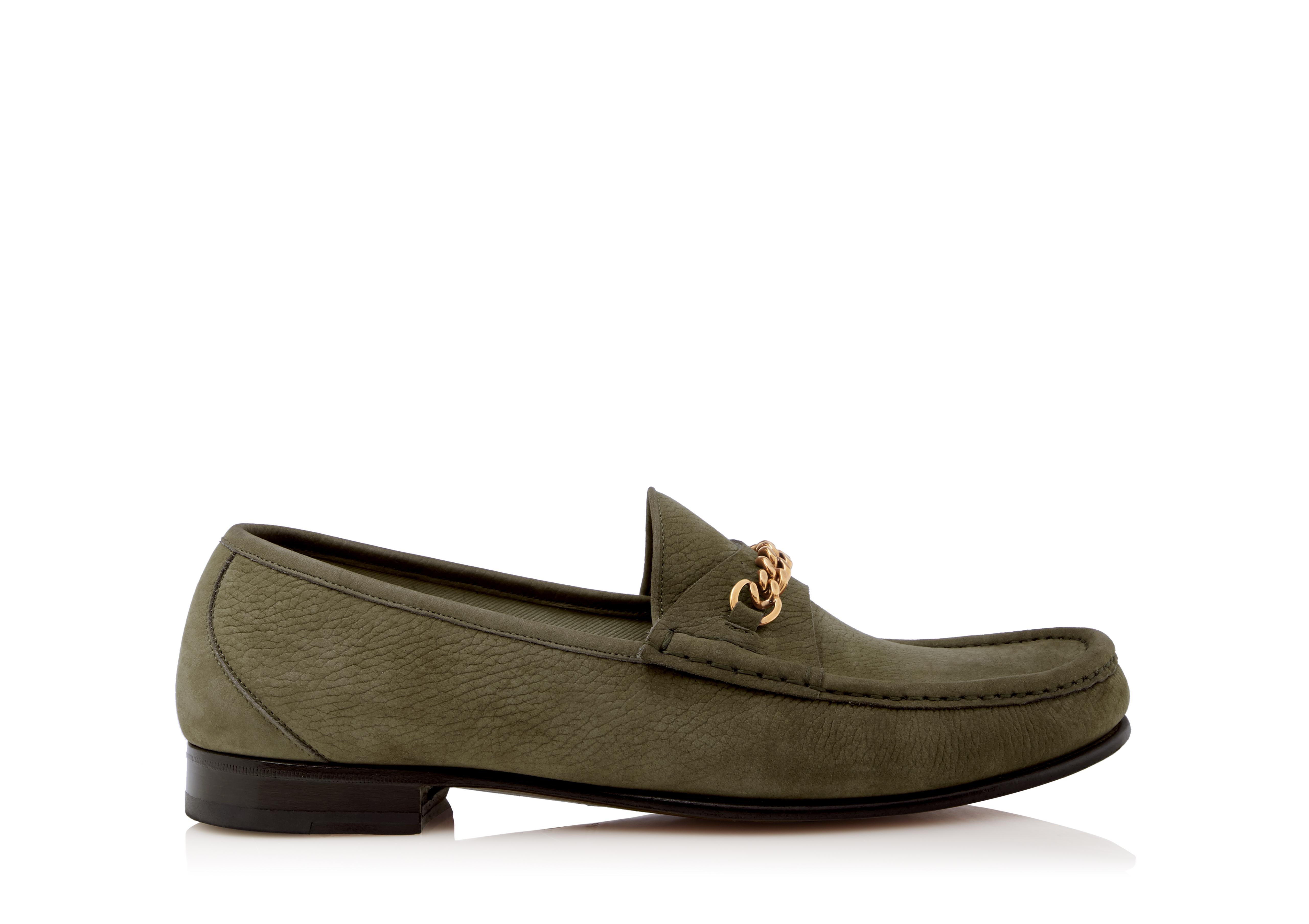 NUBUCK YORK CHAIN LOAFERS A thumbnail