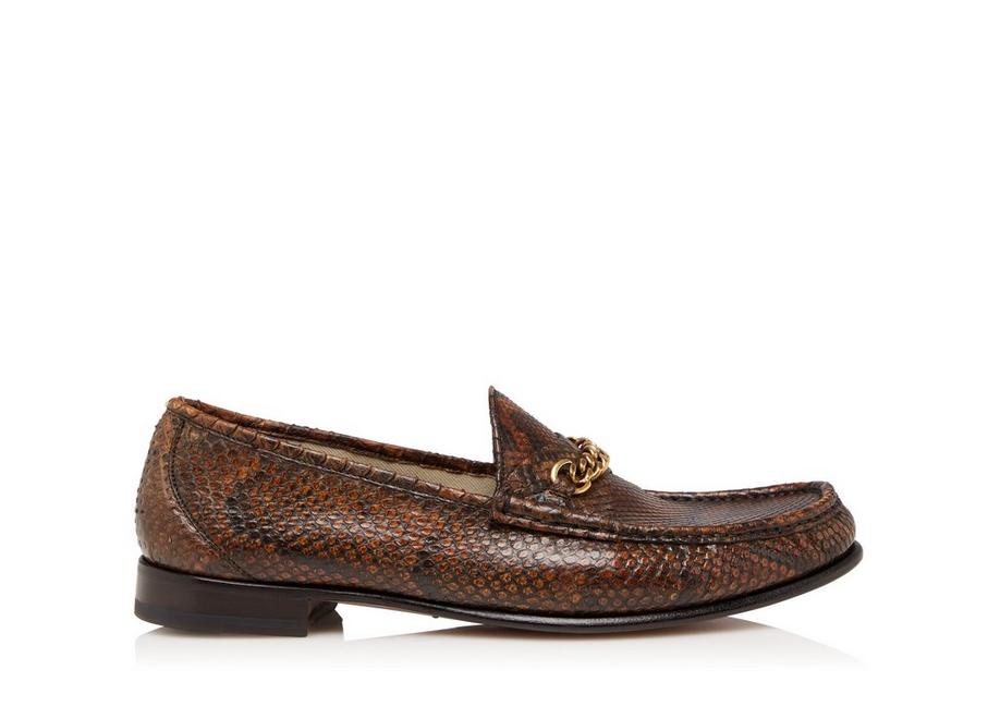 PYTHON YORK CHAIN LOAFERS A fullsize